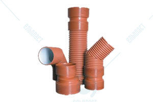 З'єднувальні деталі для двошарових гофрованих безнапірних труб для зовнішніх каналізаційних мереж E2